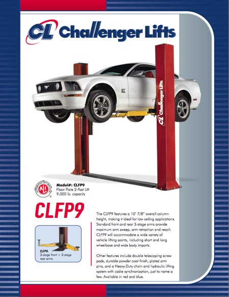 Challenger Low Ceiling Height CLFP9 9,000 lb lift