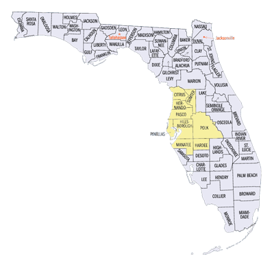 Wade's Service Area - Central Florida